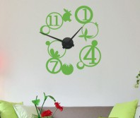 """Sticker tip ceas de perete """"Bule si fructe"""""""