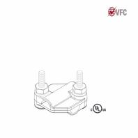 Clema in cruce VFC® pentru conductoare paratrasnet
