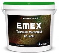"""TENCUIALA DECORATIVA DE SOCLU """"EMEX"""", Alb, Bidon 25 KG"""
