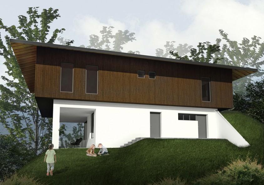 Pensiune 6 camere - Catias - Buzau - Vedere din lateral  Buzau AsiCarhitectura