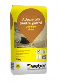 Adeziv alb pentru piatra - weberset stone