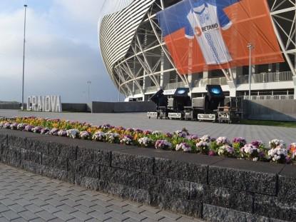 Amenajarea unor jardiniere langa stadion  Craiova ELIS PAVAJE