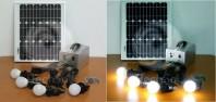 Kit solar fotovoltaic complet, pentru iluminat si incarcare dispozitive mobile - WS-1986