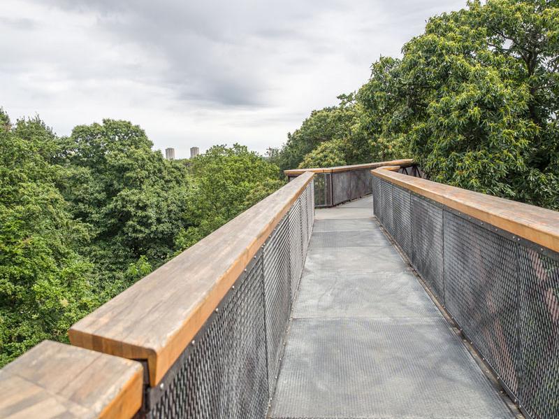 Gradina Botanica Regala Kew, Marea Britanie Aceasta pasarela inalta de 18 metri si lunga de 200