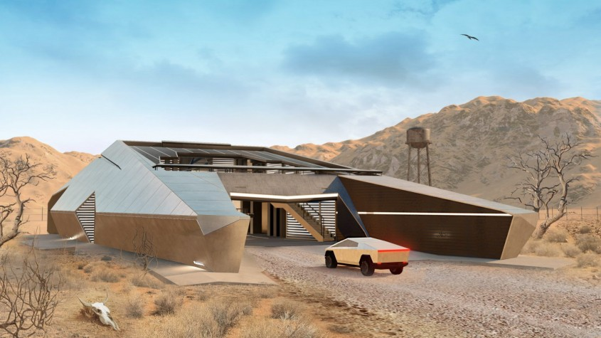 Un buncăr post-apocaliptic pe gustul fanilor Tesla