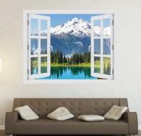Fereastra cu efect 3D - Glacier Peak, Washington - 119x93 cm