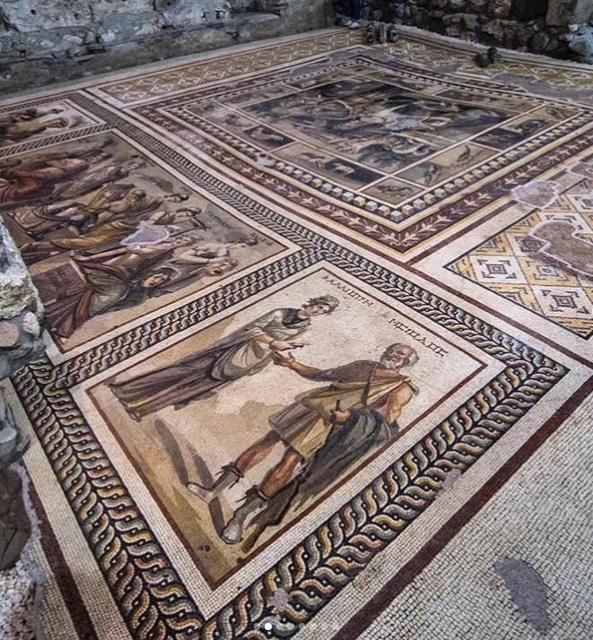 Un hotel construit în jurul unui mozaic antic spectaculos, descoperit în timpul lucrărilor