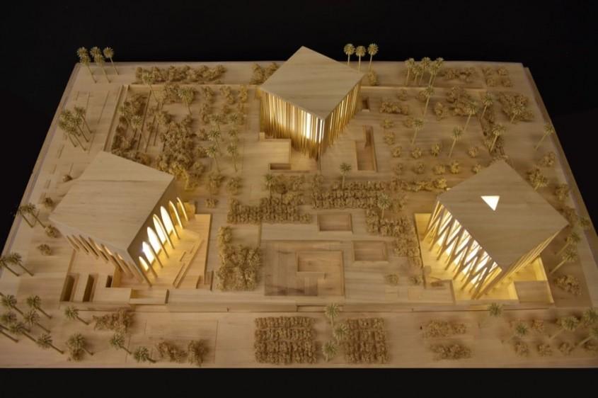 Un proiect ambițios în deșert O biserică o moschee și o sinagogă stau în armonie una