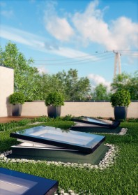 Fereastra tip F pentru acoperis terasa - DEF