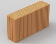 Bloc ceramic portant, cu izolatie din vata bazaltica integrata -  EVOCERAMIC 1/2 44VB