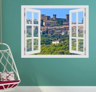 Fereastra cu efect 3D - Montalcino, Toscana - 119x93 cm