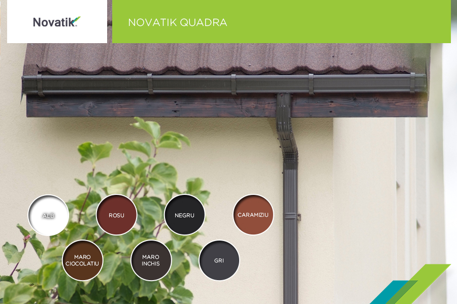 Novatik Quadra: Sistem rectangular de jgheaburi si burlane