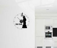 """Sticker tip ceas de perete """"New York"""""""