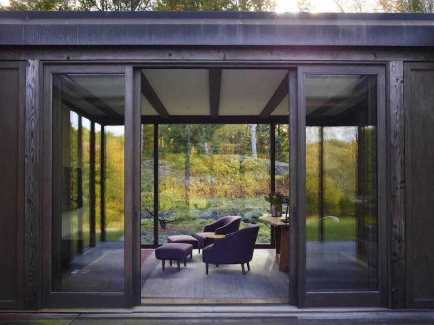 O casă cu influențe japoneze alimentată cu energie geotermală