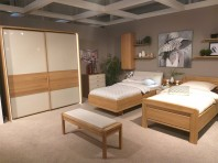 Set dormitor 2 paturi + noptiera + dulap WIEMANN