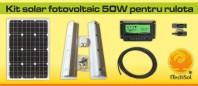 Kit solar fotovoltaic 50W pentru rulota - KIT50W12VRUL