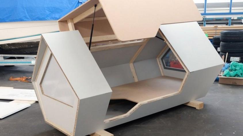 Adăposturi tip capsulă pentru a proteja oamenii străzii în timpul nopţilor geroase