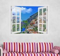 Fereastra cu efect 3D - Positano, Italia - 119x93 cm