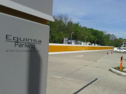 Parcarea Aeroportului International Iasi, cu sistemul de parcare Equinsa  Iasi TRITECH GROUP