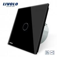 Intrerupator cap scara / cap cruce, wireless, cu touch Livolo din sticla - VL-C701SR