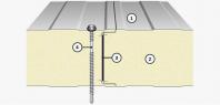 Panourile termoizolante de perete cu îmbinare ascunsă - IsoPer A