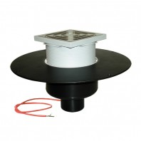 Receptor pentru acoperis cu scurgere verticala cu guler din PP si incalzire (10 - 30 W
