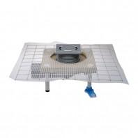 Sifon de pardoseala DN50 75 cu articulatie cu guler din beton polimer CeraDrain si obturator de