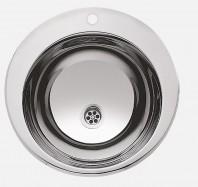 Lavoar incastrat din otel inox cu gaura pentru baterie - SANELA SLUN 28A