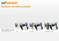 Ventilator de baie si toaleta Air Oneway