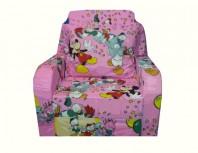 Fotoliu extensibil MELI & MAIA roz Mickey