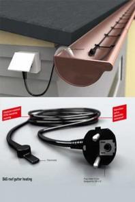 Sistem de degivrare pentru jgheaburi si burlane - Kit de degivrare cu termostat si stecher