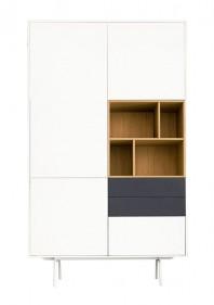 Dulap dormitor, cu trei sertare - White and Grey