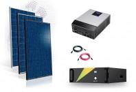 Sistem fotovoltaic Off-Grid 6kw cu baterie LifePo 100A