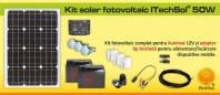 Kit (sistem) solar fotovoltaic ITechSol® 50 W - KIT50W12VAD
