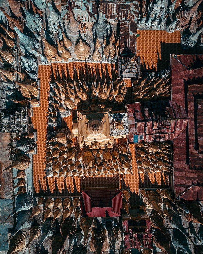 Pagodele Shwe Inn Thein, Myanmar Unul dintre cele doua grupuri de temple antice situate la est de Lacul Inle (celalalt este Nyaung Ohak).