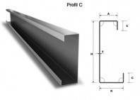 Profil metalic zincat tip C - C100