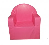 Fotoliu fix, piele ecologica, MELI & MAIA , roz
