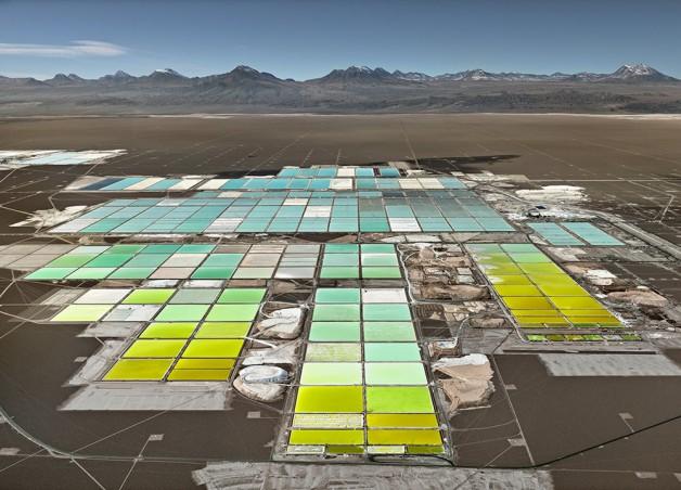 Mine de litiu, desertul Atacama, Chile, 2017