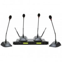 Sistem complet pentru conferinta wireless cu 4 microfoane, Proel DWSKIT
