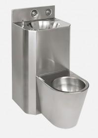 Combinatie de lavoar si vas WC din otel inox - SANELA SLWN 28Z