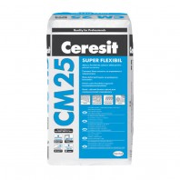 Adeziv super flexibil de culoare alba pentru placari ceramice si piatra naturala - CM 25