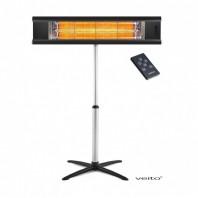 Incalzitor cu stand Veito AERO S 2,5 KW, electric, infrarosu, terasa, interior-exterior, fibra carbon, aluminiu