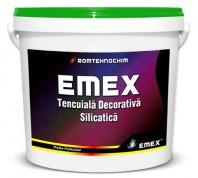 "TENCUIALA DECORATIVA SILICATICA ""EMEX"", Alb, Bidon 25 KG"