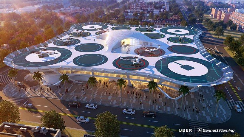 6 concepte magnifice pentru skyport-urile viitoarelor taxiuri zburătoare Uber