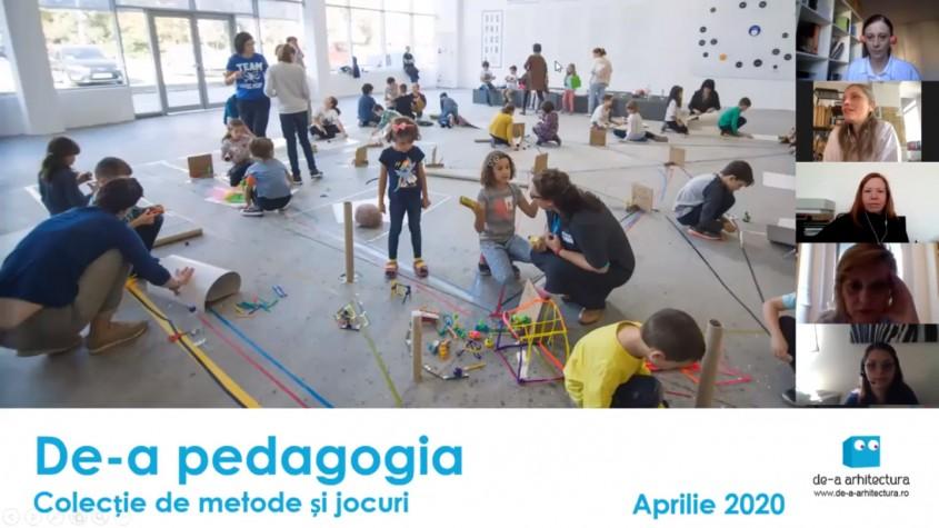 De-a Arhitectura continuă activitățile online pentru copii