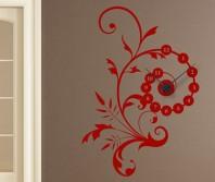 "Sticker tip ceas de perete ""Floare eleganta"""