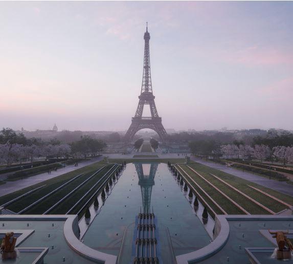 Cea mai mare grădină din Paris este amenajată în jurul Turnului Eiffel