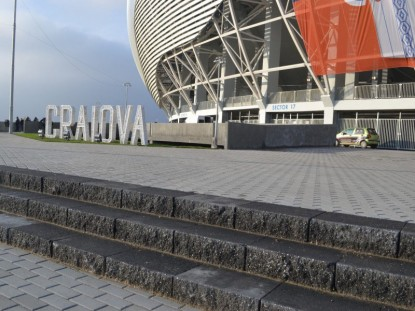 Zona exterioara stadionului, dupa amenajare  Craiova ELIS PAVAJE