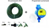 Set racire exterioara terase: Kit racire exterioara 20m + temporizator apa
