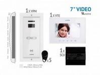 Kit video EXTRA 7'', panou incastrat -  VKE.P1FR.T7S9.ELW04